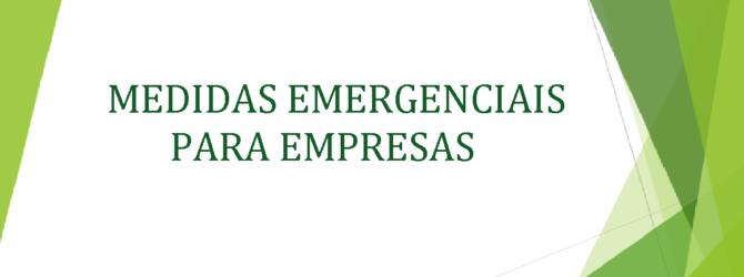 MEDIDAS EMERGENCIAIS PARA EMPRESAS